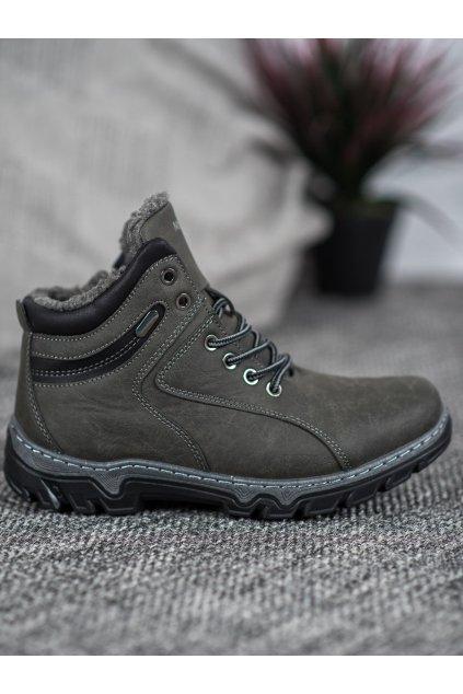Sivé dámske trekové topánky Mckeylor NJSK OCA20-2156G