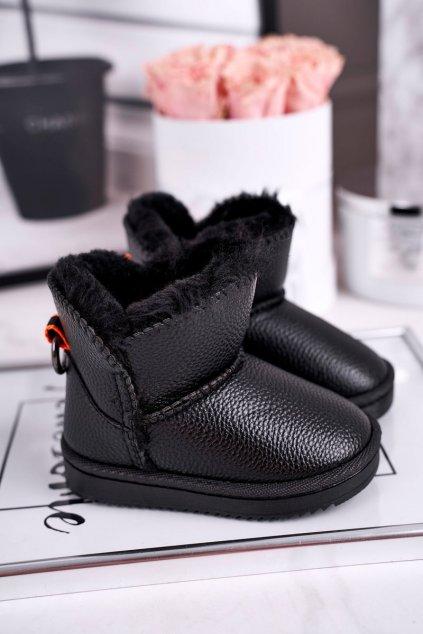 Detské členkové topánky farba čierna kód obuvi LD29/LD30 BLK