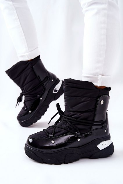 Dámske snehule farba čierna kód obuvi 21-16001BK