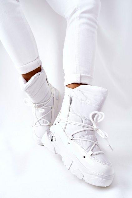 Dámske snehule farba biela kód obuvi 21-16001WH
