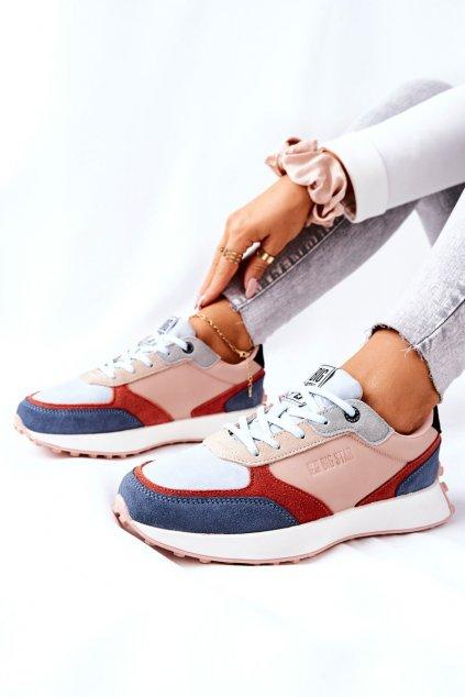 Dámske tenisky farba hnedá kód obuvi II274401 BEIGE/BLUE