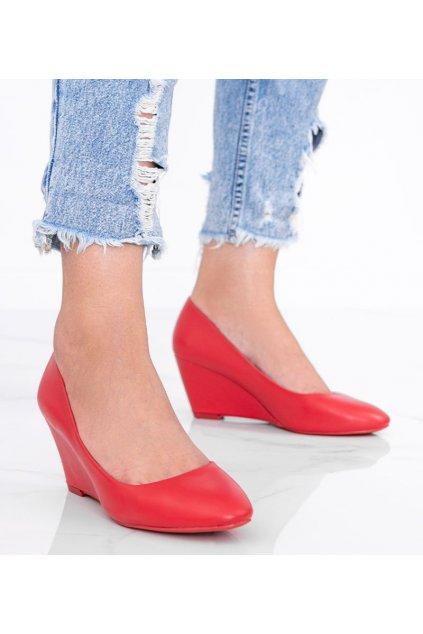 Dámske topánky lodičky červené NJSK GL805-3