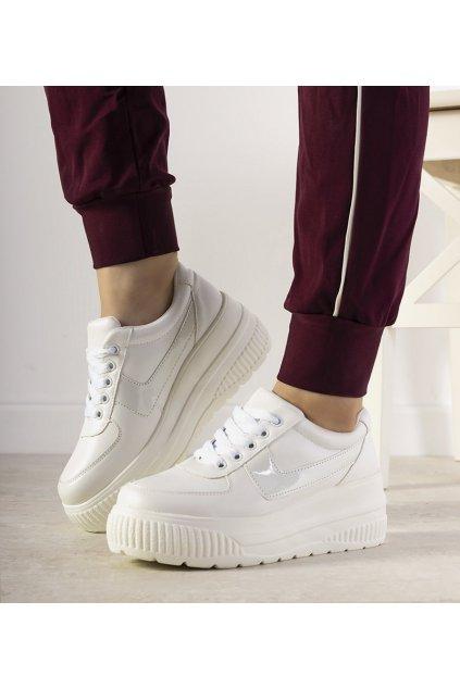 Dámske topánky tenisky biele NJSK E3141 - GM