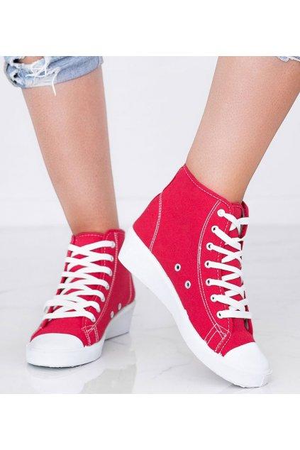 Dámske topánky tenisky červené NJSK 021 - GM