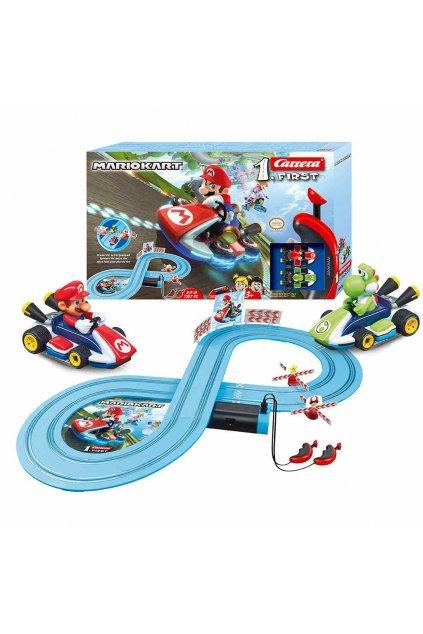 Autodráha Carrera FIRST Nintendo Mario Kart™- Mario and Yoshi 2,4 m