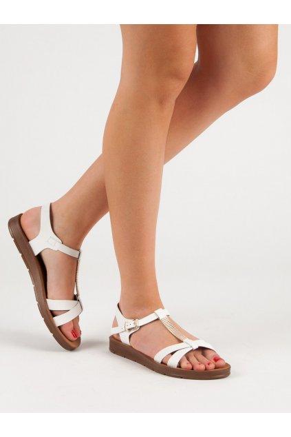 Biele dámske sandále Filippo kod DS802/19W