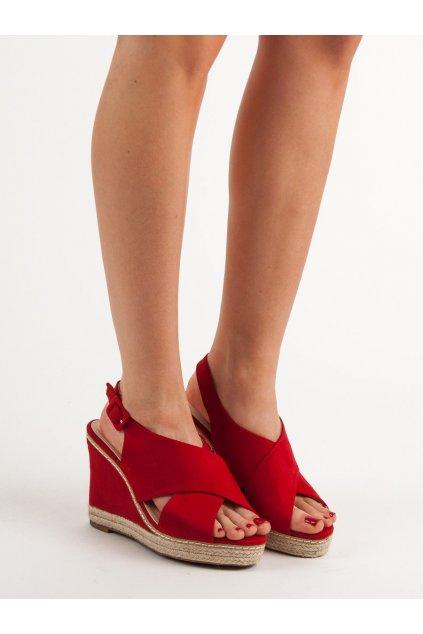 Červené dámske sandále Anesia paris kod 66-368R