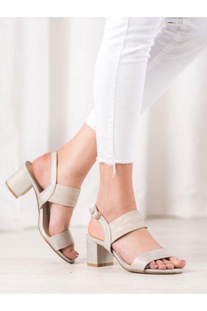 Žlté dámske sandále Goodin kod FL1029GO