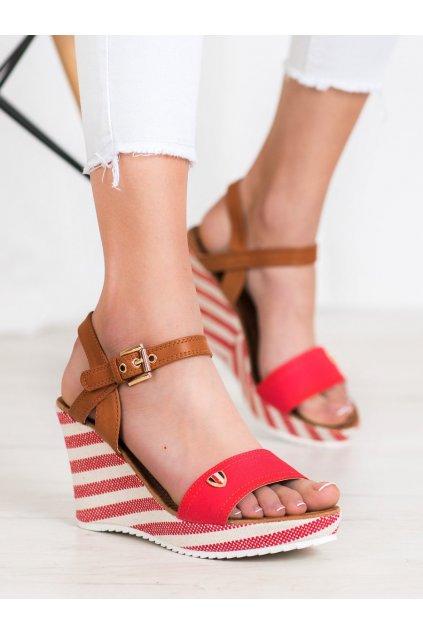 Červené dámske sandále Goodin kod FL145B-R