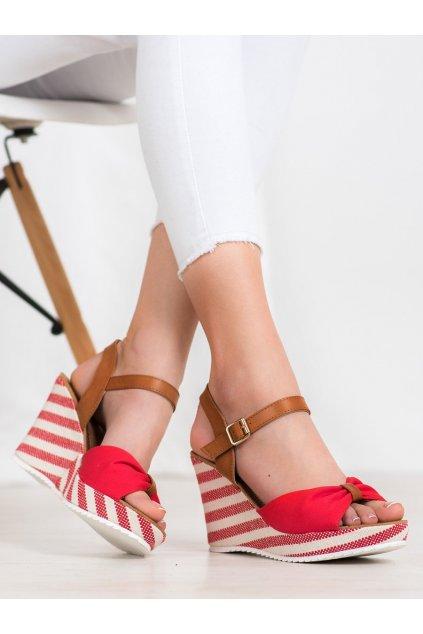Červené dámske sandále Goodin kod FL1059R