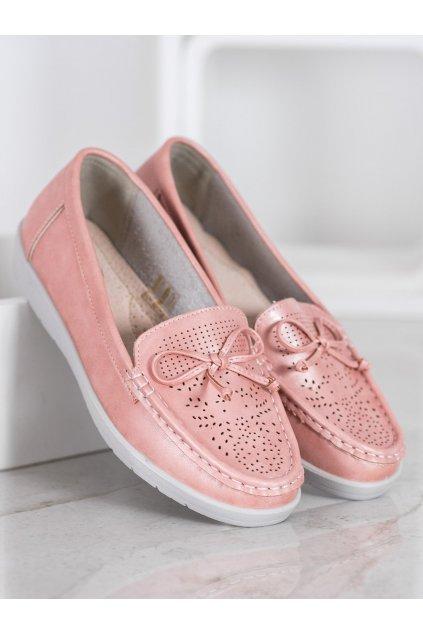 Ružové dámske mokasíny Trendi kod 6063P