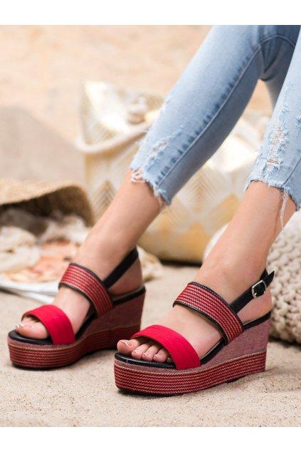Červené dámske sandále Goodin kod GD-NF-04R