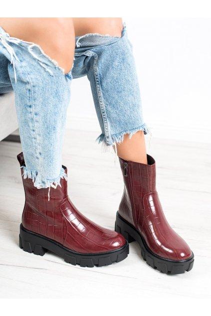 Červené dámske topánky Goodin kod PS-9001BUR