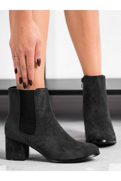 Čierne dámske topánky J. star kod A8289A-B