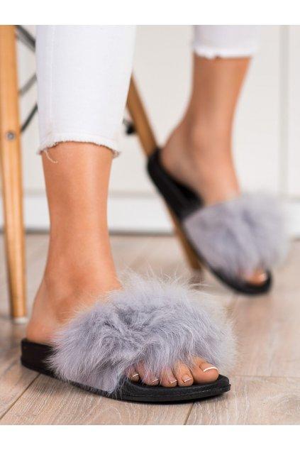 Sivé dámske topánky na doma Bona kod RS-45G