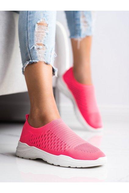 Ružové dámske tenisky Ideal shoes kod 9862F/W