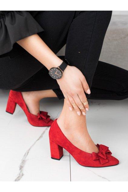 Červené dámske lodičky Vinceza kod XY21-10597R