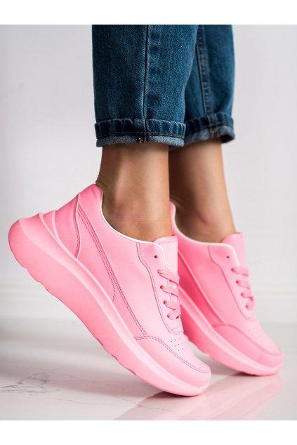 Ružové dámske tenisky Trendi kod LA131F