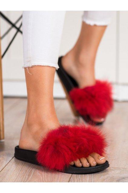 Červené dámske topánky na doma Bona kod RS-45R