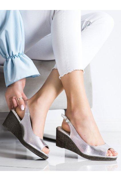 Sivé dámske sandále Goodin kod GD-FL653A-S