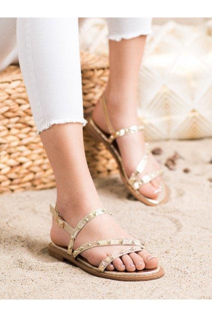 Žlté dámske sandále Goodin kod GD-OC-400GO