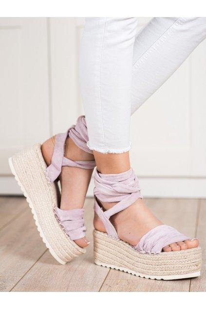 Fialové dámske sandále Trendi kod BL262PU