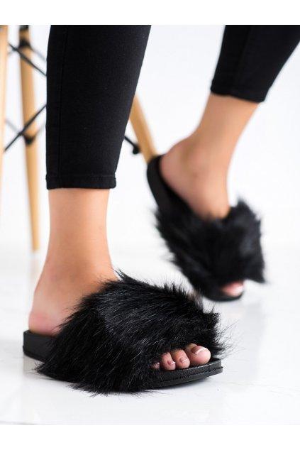 Čierne dámske šľapky Trendi kod P922-1B