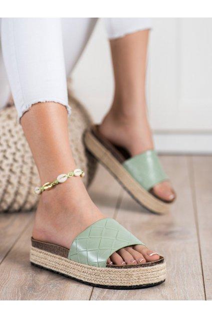 Zelené dámske šľapky Trendi kod BL016GR