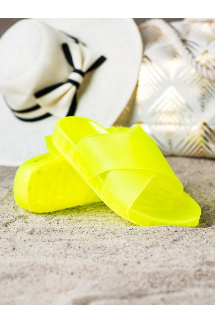 Žlté dámske šľapky Trendi kod WSA-84Y