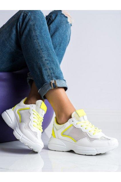 Biele dámske tenisky Trendi kod OM9013Y
