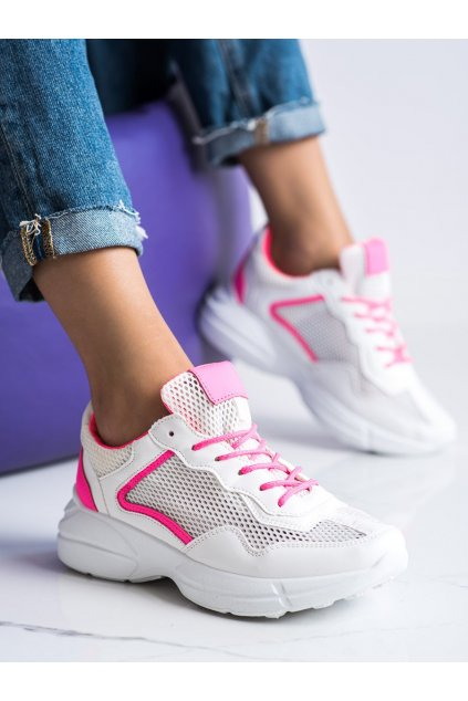 Biele dámske tenisky Trendi kod OM9013P