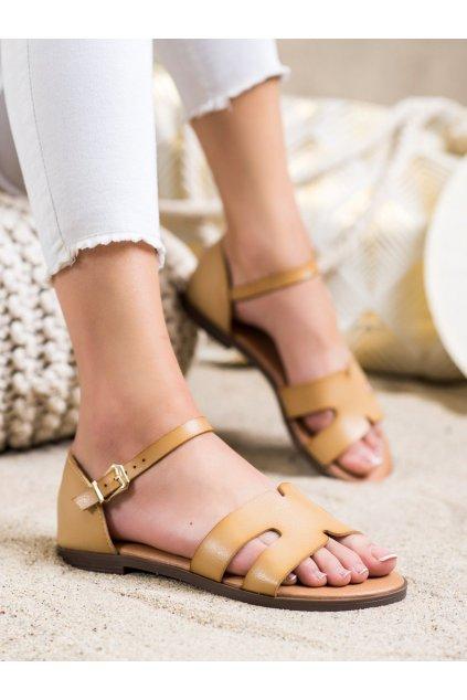 Hnedé dámske sandále Ideal shoes kod 7823BE