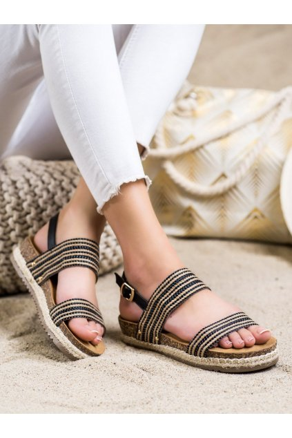 Čierne dámske sandále Trendi kod FD-50B
