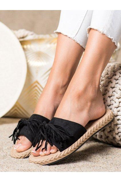 Čierne dámske šľapky Trendi kod H117NE