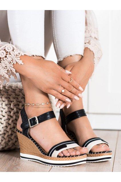 Čierne dámske sandále Trendi kod A89832B