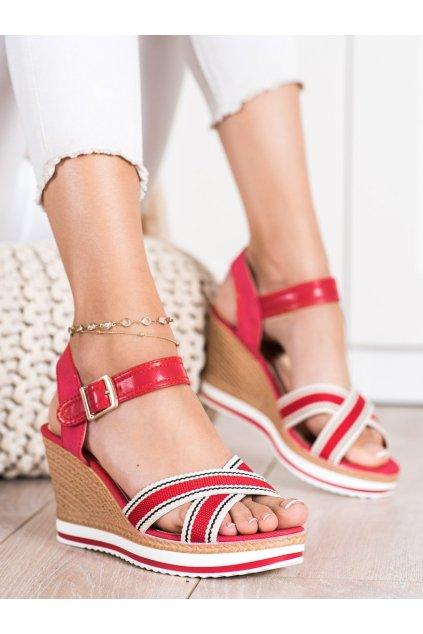 Červené dámske sandále Trendi kod A89930R