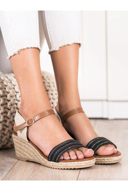 Čierne dámske sandále Trendi kod H086NE