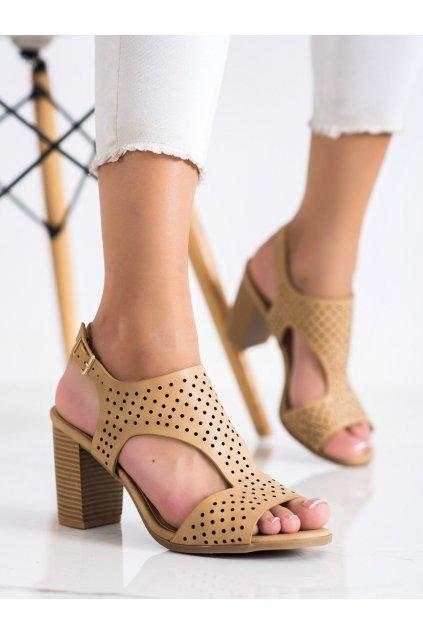 Hnedé dámske sandále Renda kod S-886BE