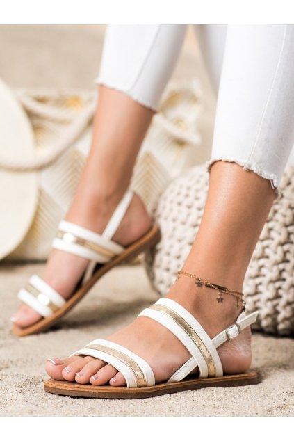 Biele dámske sandále Cm paris kod 8839-42W
