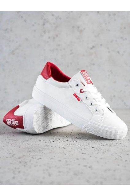 Biele dámske tenisky Big star kod EE274311W/R