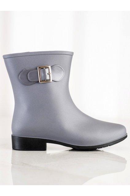 Sivé dámske gumáky Trendi kod HMY-7G