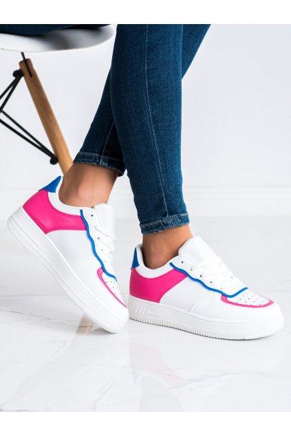 Biele dámske tenisky Trendi kod 1101FU