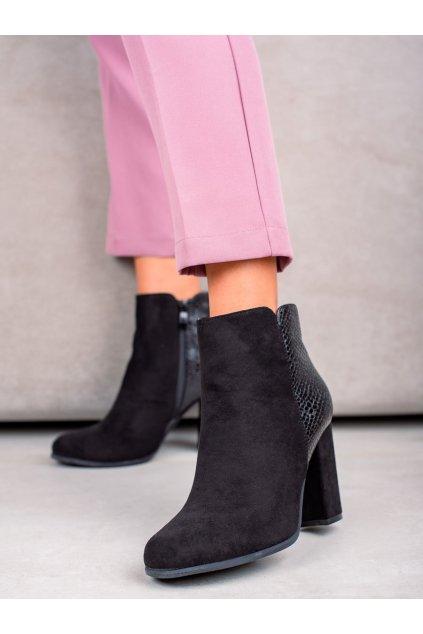 Čierne dámske topánky Janessa kod KL-765B