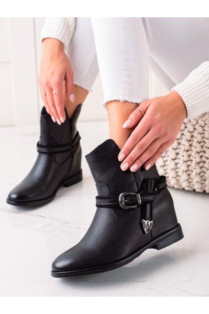 Čierne dámske topánky Trendi kod HQ239B