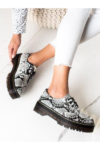 Zvierací motív dámske poltopánky Sweet shoes kod D7007SE/B
