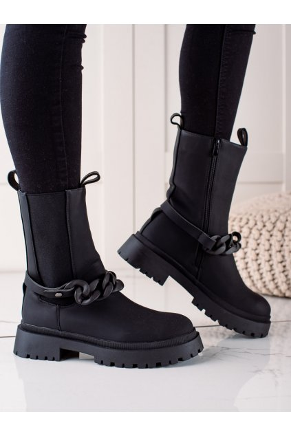 Čierne dámske topánky Trendi kod VR109B