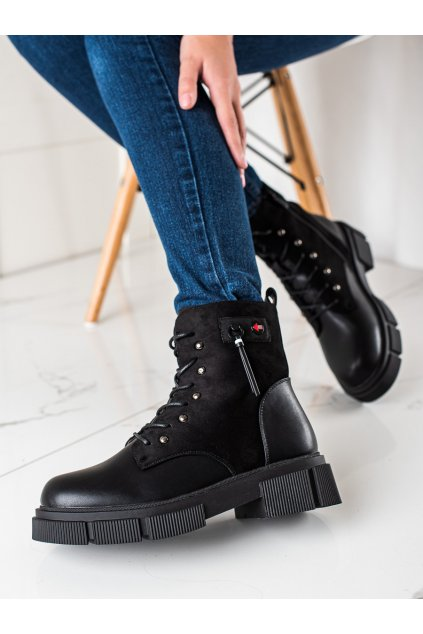 Čierne dámske topánky W. potocki kod RE21-11021B