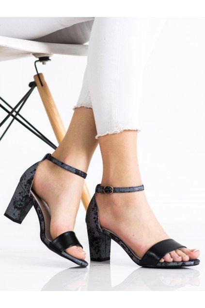 Čierne dámske sandále Goodin kod GD-FL281B