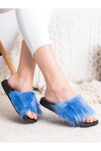 Fialové dámske topánky na doma Trendi kod RS-9BL