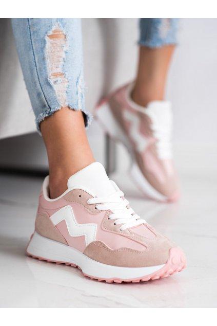 Ružové dámske tenisky Trendi kod BL208P